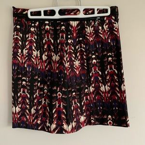 H&M Colorful Patterned Zipper Skirt